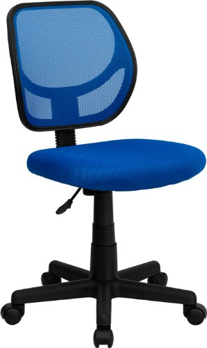Flash Furniture Wa-3074-Bl-Gg Mid-Back Blue Mesh Task And Computer Chair