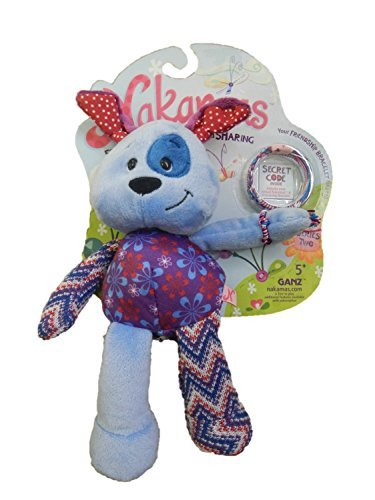 Nakamas Plush Dog 'Leesha' with Friendship Bracelet by Ganz