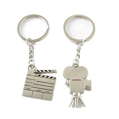 Liebpaar Filmklappe-Form und Videokamera-Form Schlüsselanhänger