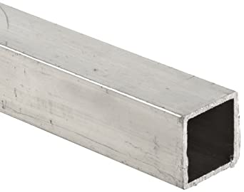 6063 Aluminum Hollow Rectangular Bar, T52 Temper, Inch, ASTM B221