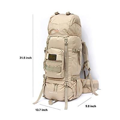 OutdoorMaster 70+5L Internal Frame Backpack Tactical Backpack ...