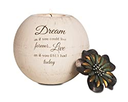 Pavilion Gift Company 19025 Dream Terra Cotta Candle Holder, 5-Inch