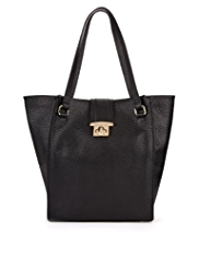 M&S Collection Leather Tab Shopper Bag