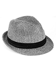 Wide Brim Trilby Hat with Wool