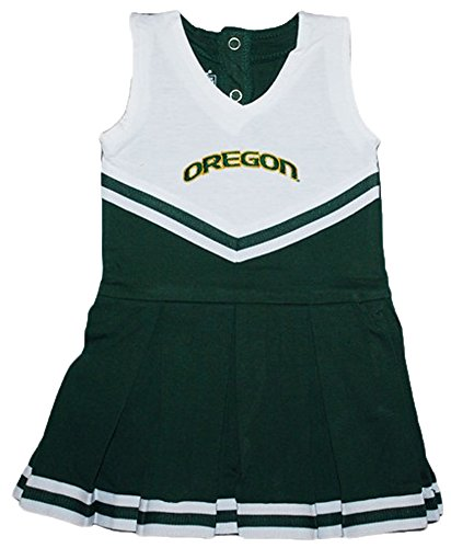 Oregon Ducks NCAA Newborn Baby Cheerleader Bodysuit Dress