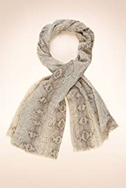 Lightweight Faux Snakeskin Print Scarf with Wool [T01-8498-S]