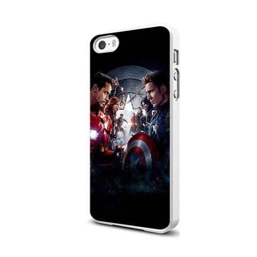 Cover iPhone 5 5S Case Bianca Captain America Civil War I3X2BR