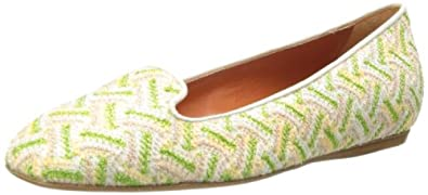 Missoni Women's Woven Slip-On Loafer,Green,36.5 EU/6 M US