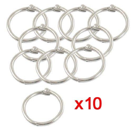 Sonline-10-x-anneau-de-papierporte-cles-en-metal-Couleur-argent-08-de-diametre