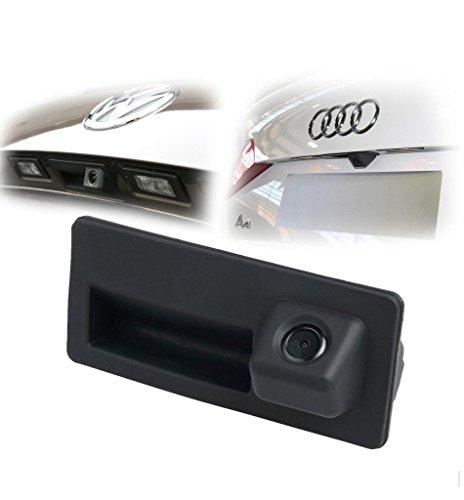 MAYA 170 gradi Bagagliaio Maniglia fotografica di sostegno di retrovisione HD macchina fotografica di parcheggio della macchina fotografica per Audi A4 A5 S5 Q5 per VW Passat Tiguan Golf Passat Touran Jetta Sharan Touareg
