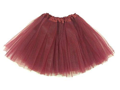 Rush Dance Ballerina Girls Dress-Up Princess Fairy Costume Recital Tutu (Kids 3-8 Years, Burgundy)