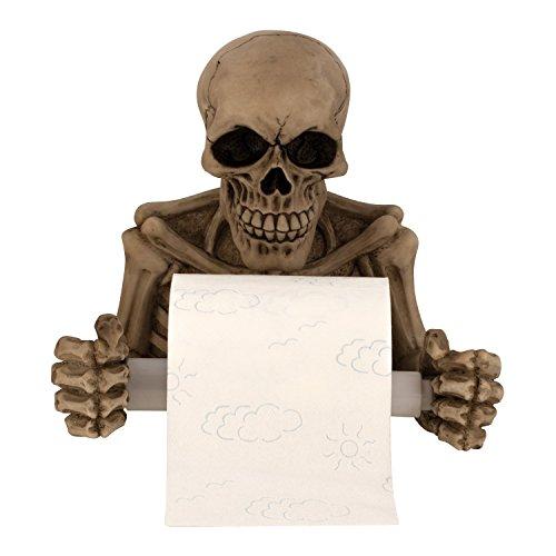 Totenkopf Skelett Schädel *Toilettenpapierhalter* Klorollenhalter Gothic Deko, ca. 20 cm