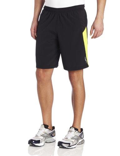 Reebok Reebok Men's 9-Inch Running Shorts, Black/Solar Green, Medium