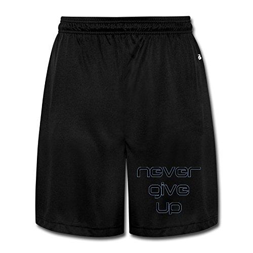 Show Time Men's Never Give Up Short Athletics Workout Sweatpants Black 3X