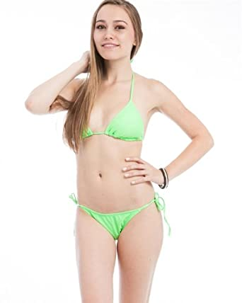 G2 Chic Women's Solid String Halter Bikini(SW-2PC,NGN-L)