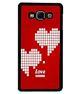 printtech Heart Pixels Love Back Case Cover for Samsung Galaxy A7::Samsung Galaxy A7 A700F
