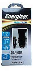 Energizer Car Charger With Micro USB Cable With Qualcomm Quick Charge 2.0