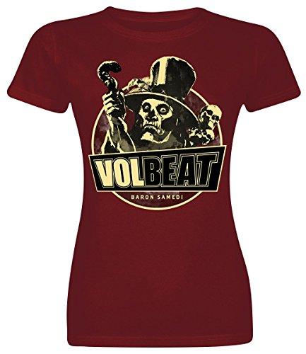 Volbeat Baron Samedi Maglia donna bordeaux XL