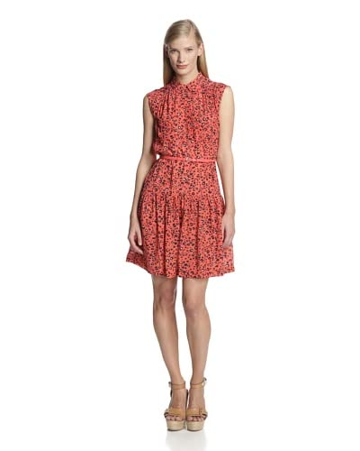 French Connection Women's Cheetah Crepe Dress