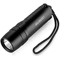 Suaoki 4-in-1 Cree Led Rechargeable Flashlight with Built-in 5200mAh Power Bank, Window Smasher and Belt Cutter