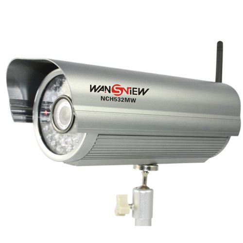 Wansview Outdoor IP66 Waterproof Mega Pixel Wireless IP Camera Alarm H.264 2 Audio Free DDNS
