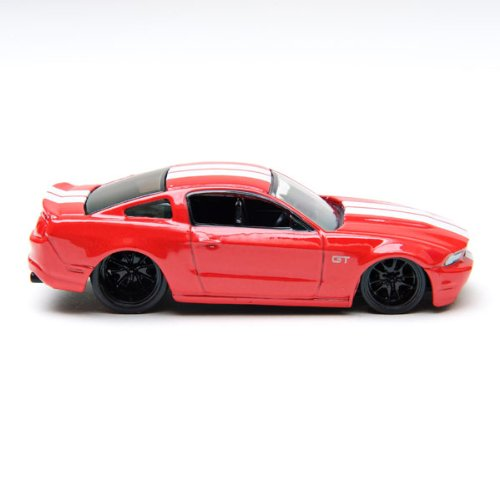 10Vox Tracksters 2010 Ford Mustang GT - Red with White Stripes - 1