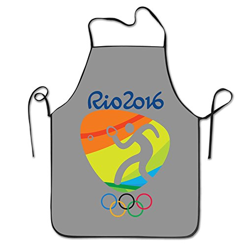 OKGOO Unisex Classic Table Tennis Logo Rio Olympics 2016 Barbecue Apron (Medal Tabletop Tennis compare prices)