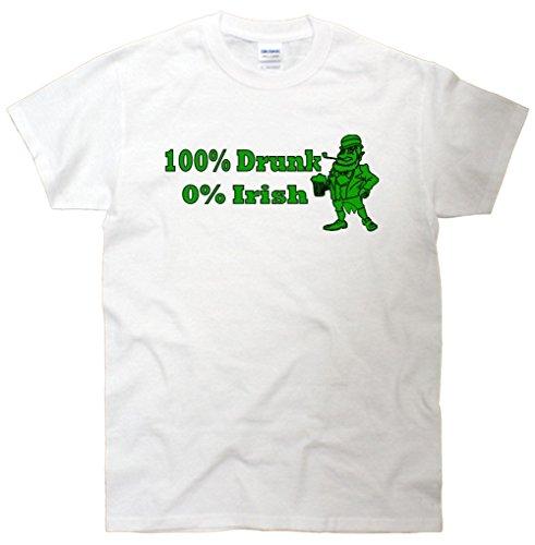 100% Drunk 0% Irish Funny Beer St. Patrick's Day T-Shirt
