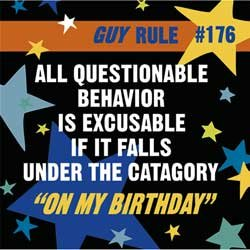 "Birthday Party for a Guy Beverage Napkins - ""What a Guy"" Napkins - 16 Count"
