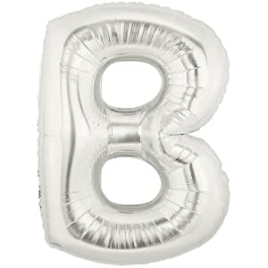 Silver letter b foil balloon 40 inch amazoncouk for Foil letter balloons amazon