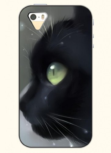 Oofit Phone Case Design With Black Cat For Apple Iphone 4 4S 4G front-458134