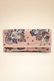 Sequin & Bead Embellished Marchesa Floral Clutch Bag [T83-0475C-S]