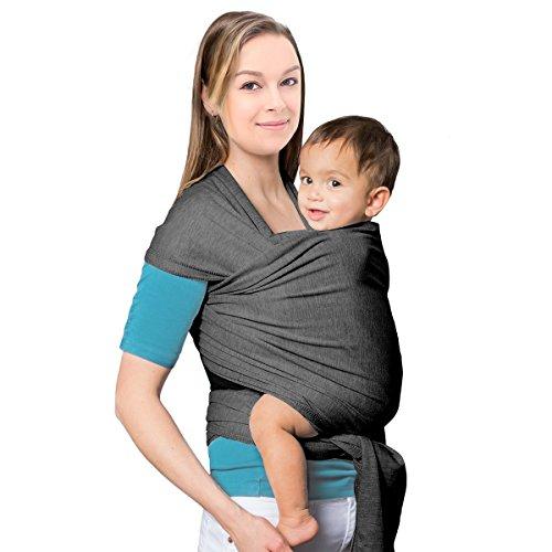 Mture Babytragetuch Tragetuch Baby Kindertrage Bauchtrage Hüfttrage Babytrage Baby Carrier Wrap Sling Tragehilfe Baby (Grau)