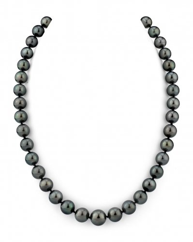 9-10.8mm Tahitian South Sea Pearl Necklace - AAA Quality with 14K Yellow Gold Clasp