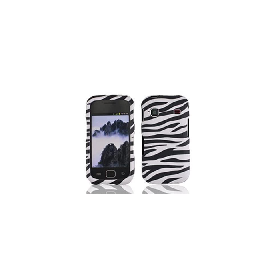 PREMIUM BLACK & WHITE ZEBRA STRIPES Design Faceplate Phone Cover Sleeve Hard Snap On Shield Protector Case for SAMSUNG REPP R680 (US CELLULAR) ACCESSORY With SogaWireless Stylus Pen [SWE11]