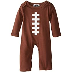 Mud Pie Baby-Boys Newborn Football One Piece, Brown, 0-3 Months