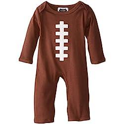 Mud Pie Baby-Boys Newborn Football One Piece, Brown, 0-3 Months