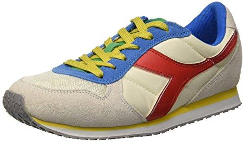 Diadora K_Run Scarpe da corsa, Unisex adulto, Multicolore (C6073 Gr. Alaska/Giallo Vibr/Rosso F), 40