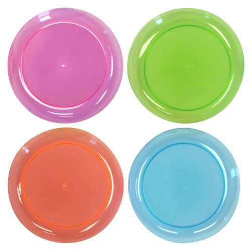 Party Essentials N92090 Brights Hard Plastic Round Buffet/