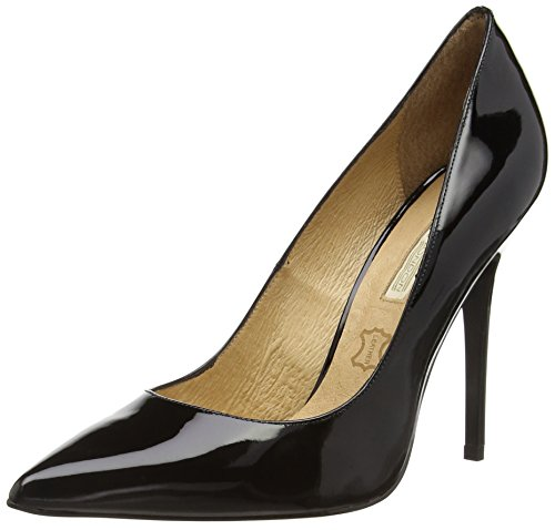 Buffalo London 11335X-269 PATENT LEATHER, Decolleté chiuse donna, Nero (nero (black 01)), 38