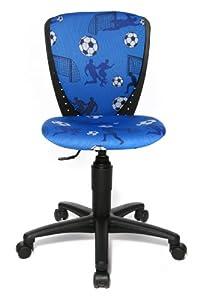children office chair swivel chair scool 3 blue soccer