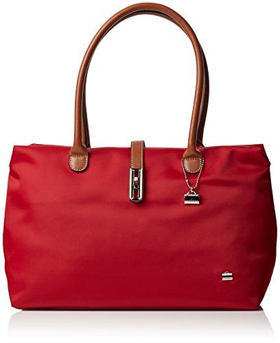 La Bagagerie Shop N+, Borsa a spalla donna Taglia unica, rosso (Rosso (Bordeaux)), Taglia unica