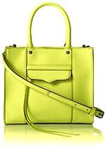 Rebecca Minkoff MAB Mini Cross Body Bag,Acid Yellow,One Size