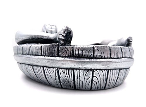 Jooyi® Vintage Personality Creative Eco-friendly Paint Ashtray Ornaments Table Ashtray Cigar Cigarettes Ash Tray Home Decoration Décor Fantasy Crafts Gifts (Sexy Women, Silver)