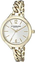 Stuhrling Original Women's 624M.02 Vogue Swiss Quartz Gold Tone Link Bracelet Watch