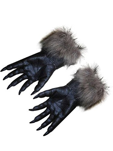 [Absolutely Perfect Frightening Halloween Horror Cosplay Props Supplies Gloves One Size] (Bear Head Costume Amazon)
