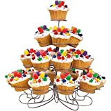 Luzys Light-weight Tiered Metal Dessert and Cupcake Stand (23-Cup 4-Tier)