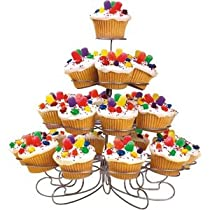 Luzys Light-weight Tiered Metal Dessert and Cupcake Stand