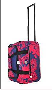 Lightweight Luggage Overnight Cabin Bag On Wheels Easyjet BA, Weekender Hospital Trolley Bag Stylish heavy duty polyester wheelie bag, Shoulder Bag, with one main compartment and front zipped pocket. Quality telescopic handle mechanism concealed within a