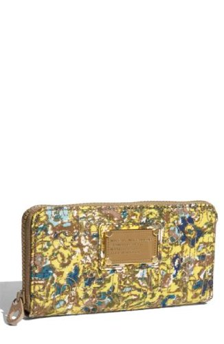 Marc Jacobs Pretty Large Zip Wallet Pebble Multi